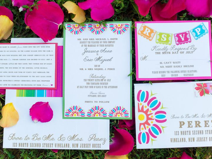 Tmx 1452098377482 Justbefiesta003 Egg Harbor Township, NJ wedding invitation
