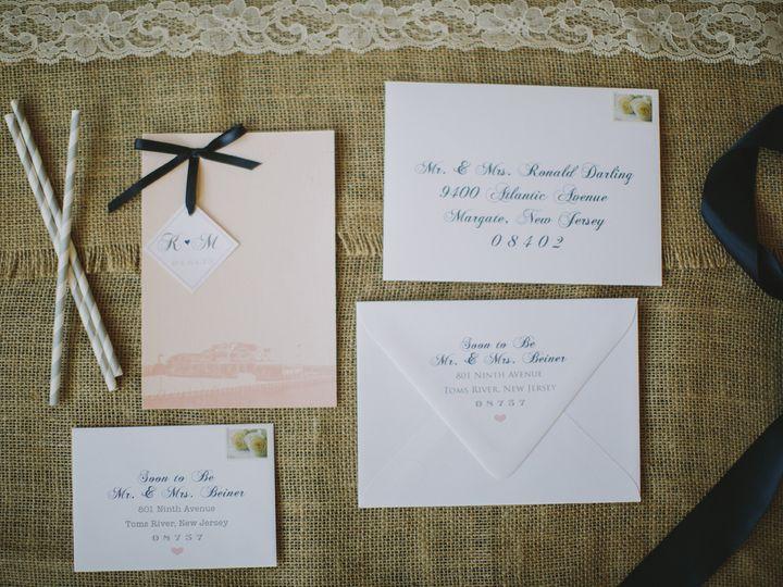 Tmx 1452098432143 Justbekm016 Egg Harbor Township, NJ wedding invitation