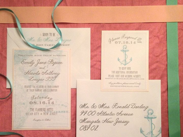 Tmx 1452098582067 109264199974118402889216009881191037266849n Egg Harbor Township, NJ wedding invitation