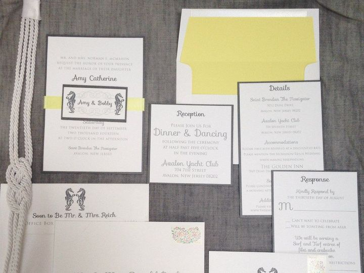 Tmx 1452098603072 103939449974118936222498984758853517180859n Egg Harbor Township, NJ wedding invitation