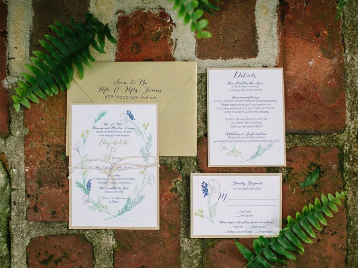 Tmx 1452098825621 1219114811545052512462457062103616289597673o Egg Harbor Township, NJ wedding invitation