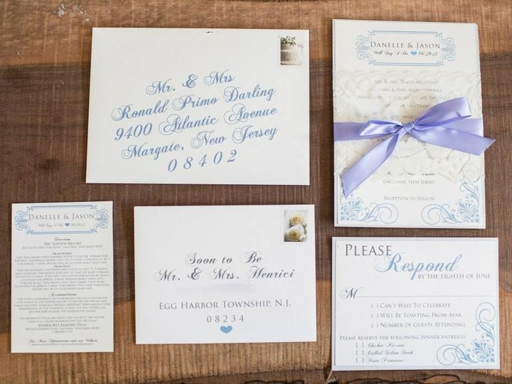 Tmx 1452099116743 1005280654221664607942608348110n Egg Harbor Township, NJ wedding invitation
