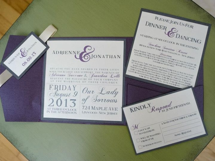 Tmx 1452099253215 109594859973562236278161839820240890329746n Egg Harbor Township, NJ wedding invitation