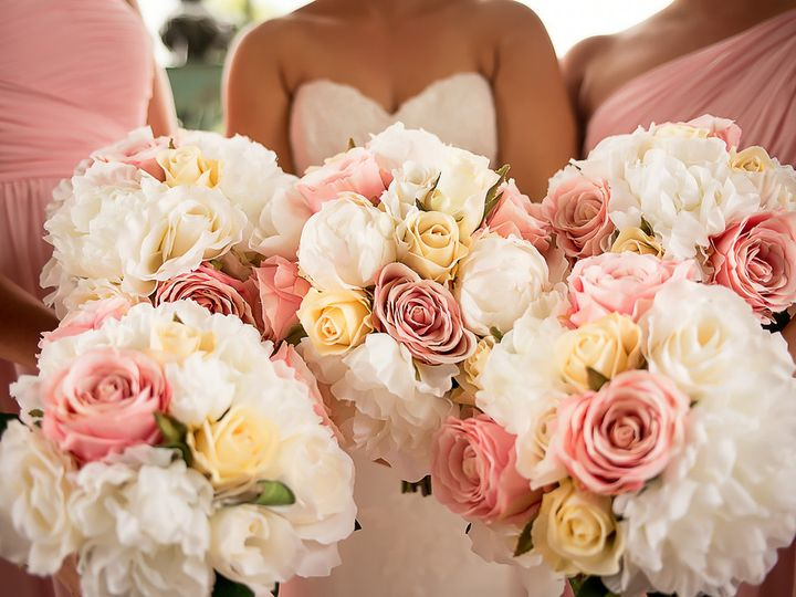 Tmx 1454714935028 Pink Vanilla And Ivory Rose Bouquets Wayne wedding florist
