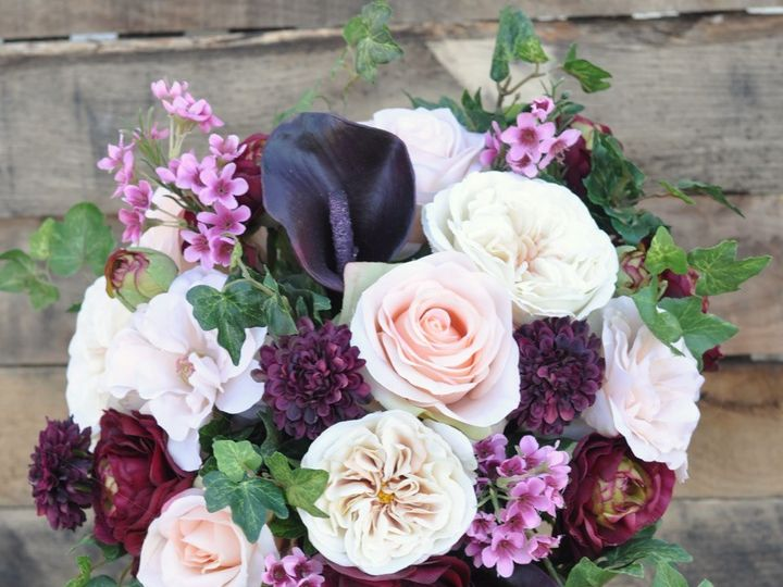 Tmx 1454788448647 Burgundy Eggplant And Blush Cascade Bouquet   1 Wayne wedding florist