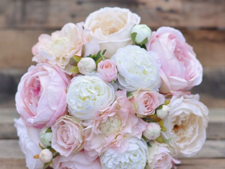Tmx 1454788517145 Pink Ivory Cabbage Rose Ranunculus Bouquet   1 Wayne wedding florist