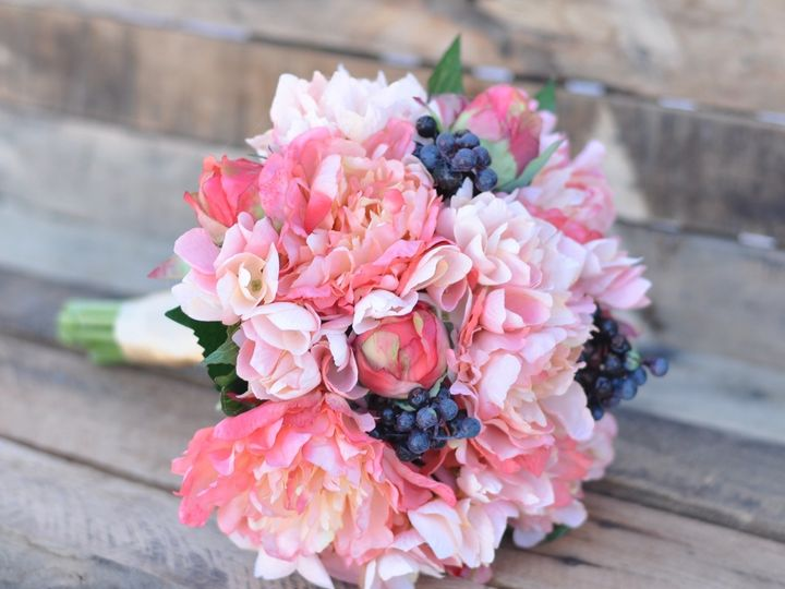 Tmx 1454788533823 Coral Peonies Hydrangea And Blue Berries   1 Wayne wedding florist