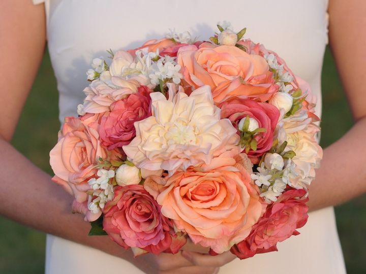 Tmx 1454789334933 Coral Rose Dahlia   1 Wayne wedding florist