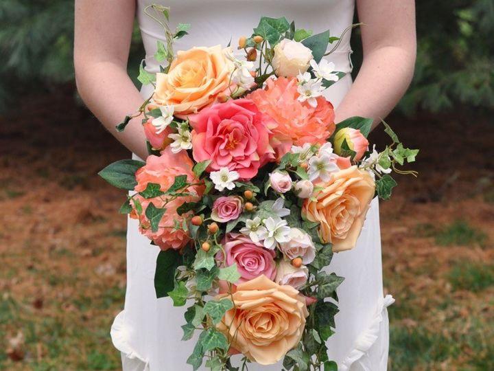 Tmx 1454789369489 Coral Rose Peony Cascade   1 Wayne wedding florist