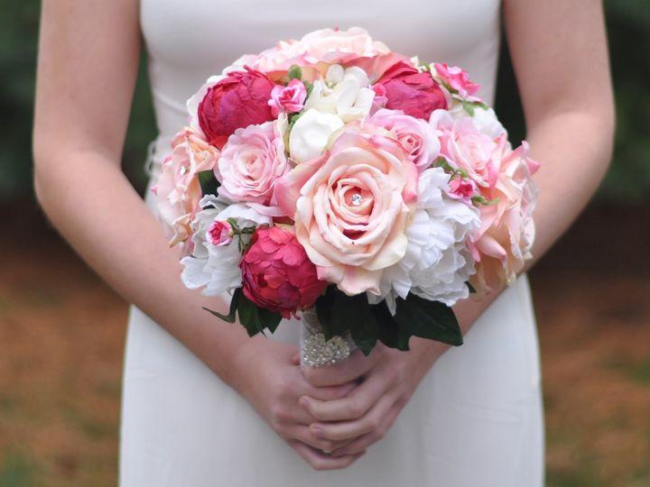 Tmx 1454789374822 Pink Rose Fuchsia Peony Rhinestone   1 Wayne wedding florist