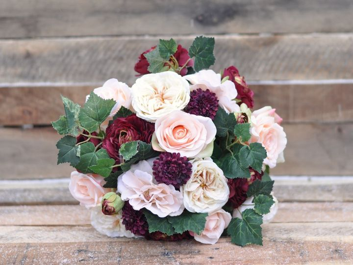 Tmx 1454789399991 Marsala Ranunculus Peach Roses Ivory Roses Grape I Wayne wedding florist