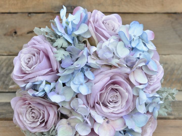 Tmx 1454789415645 Warm Lavender Rose Blue Hydrangea Dusty Miller Bou Wayne wedding florist