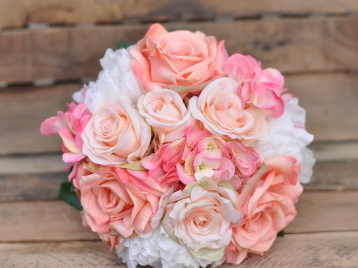 Tmx 1454789861819 Coral Rose Pink Hydrangea Ivory Peony   1 Wayne wedding florist
