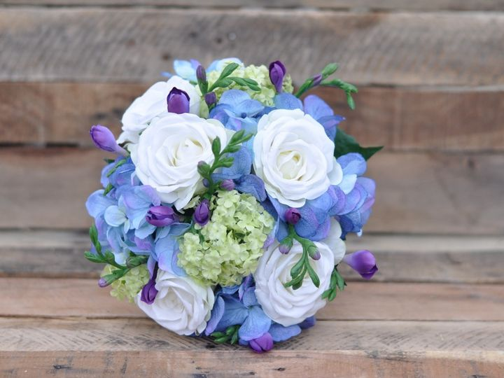 Tmx 1454789913379 Blue Hydrangea Whit Roses Purple Freesia   1 Wayne wedding florist