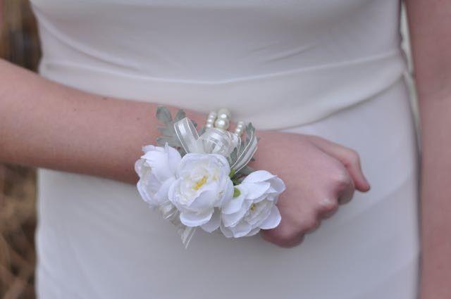 Tmx 1454790269415 Ivory Ranunculus Dusty Miller Corsage   1 Wayne wedding florist
