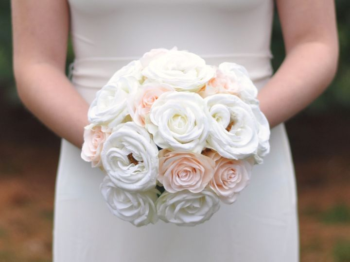 Tmx 1454790436380 Ivory And Blush Rose Bouquet   1 Wayne wedding florist