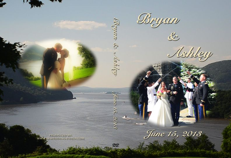 This is an example of a custom DVD case from AK Wedding Video.