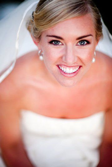 Top angle shot of bride