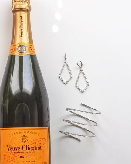 Jewelry and champagne