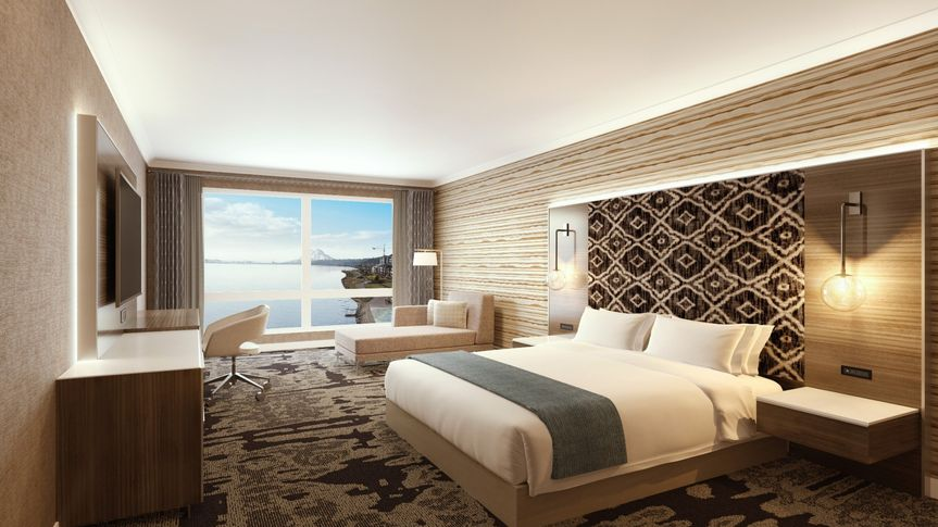 Waterfront guest room