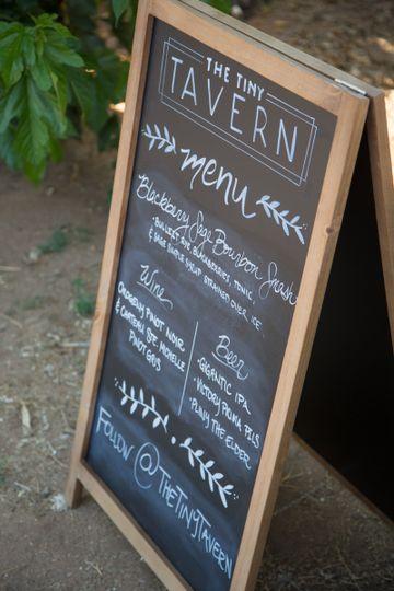 Sample event menu