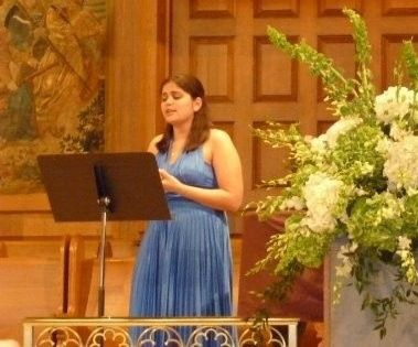 Vocalizing at a ceremony