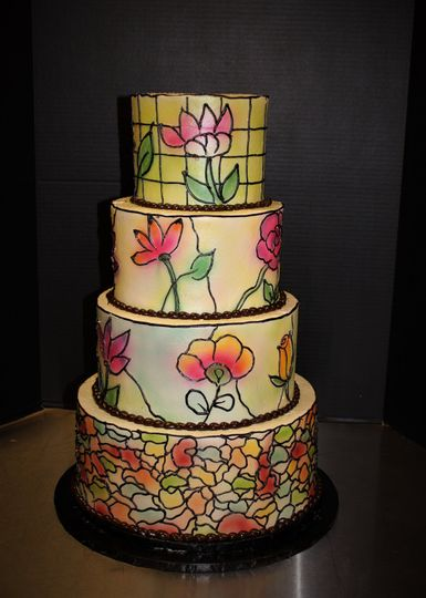 Stained glass inspired cake