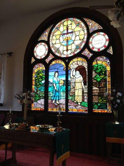 Window in sanctuary