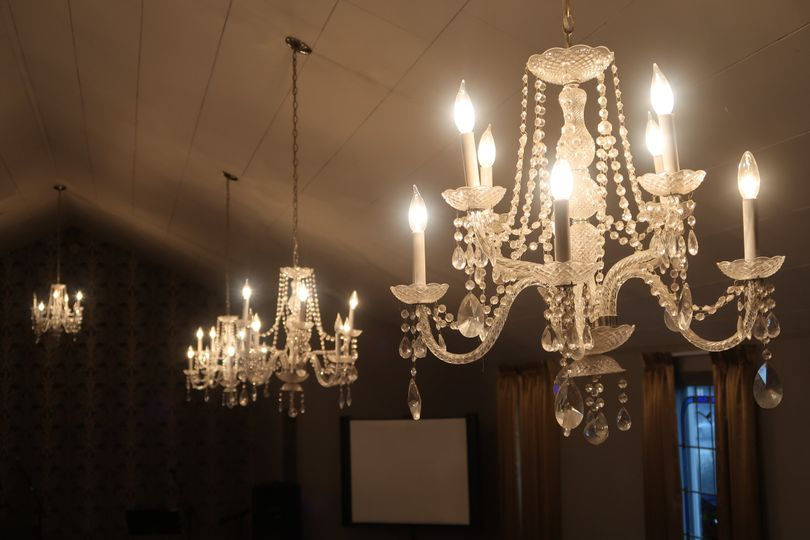 Grand hall chandeliers