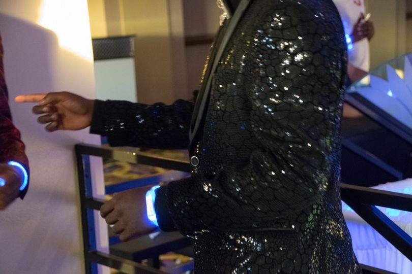 black jacket giltter