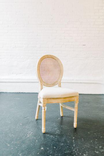 Rattan chair closeup