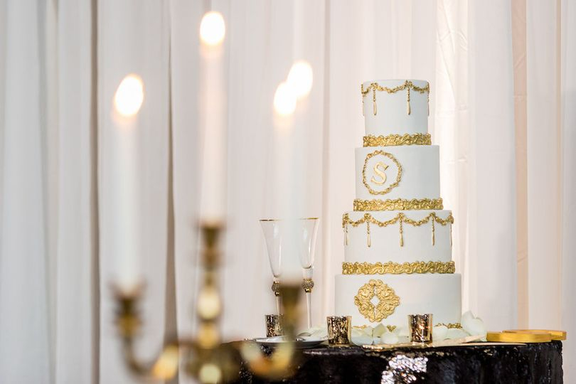NYE Wedding Cake