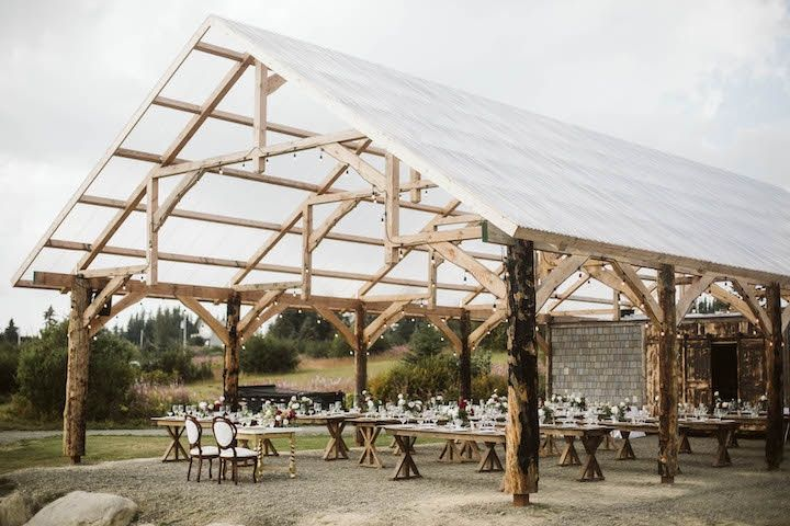 Timber-frame pavilion