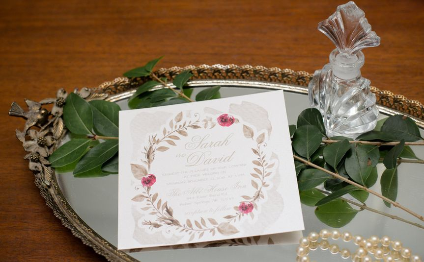 Burgundy and Gold Wedding Invitations as featured on Wedmepretty blog