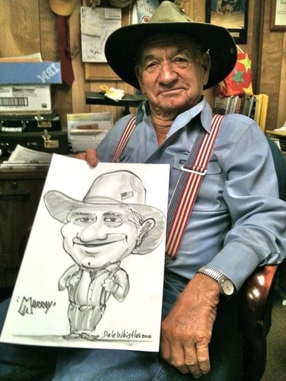 Cowboy caricature