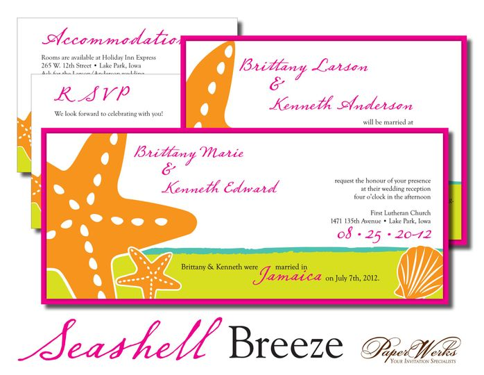 Perfect for a destination wedding, this theme brings the beach theme alive with bright colors.