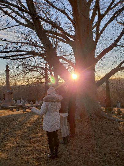 Elopement in cemetery