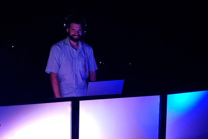 Santorini elegant DJ booth