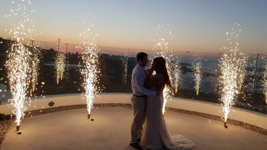 Santorini fireworks