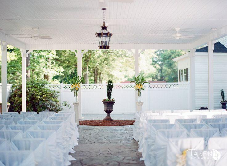 Ceremony setup