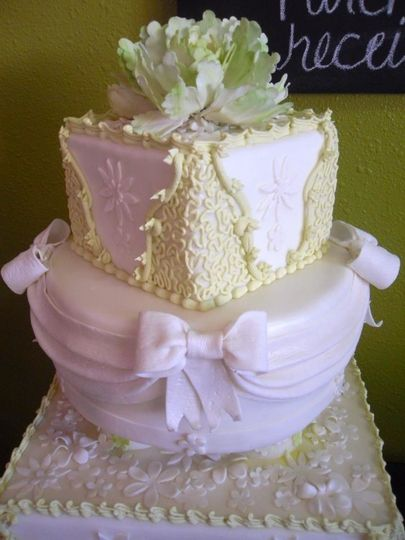 Two tier pink cake