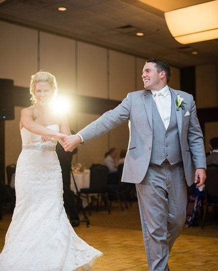 Couple entering the dance floor