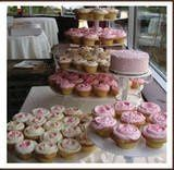 Tmx 1225234592359 Th Pink Yellow Cupcakes Tustin wedding cake