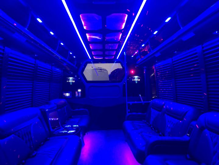 Party bus lighting