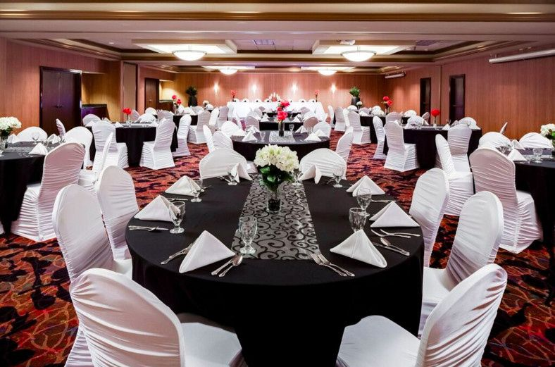 Our Grand Ballroom setup can seat up to 300 guests and can be customized to meet your needs.