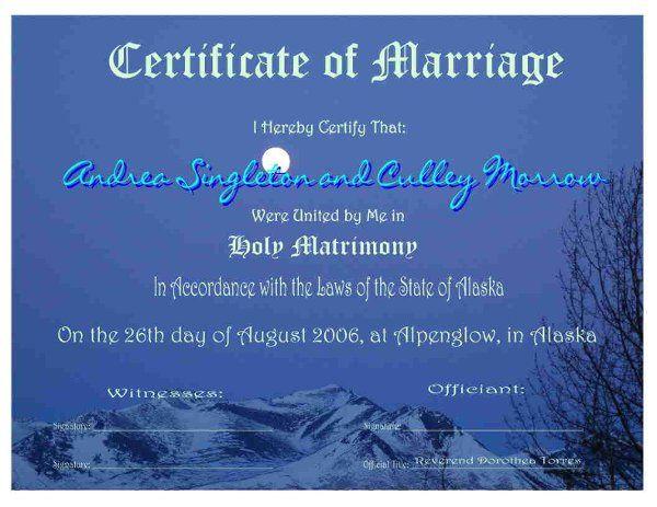 Certificate # 2