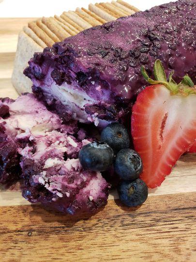 Wild blueberry vanilla goat cheese