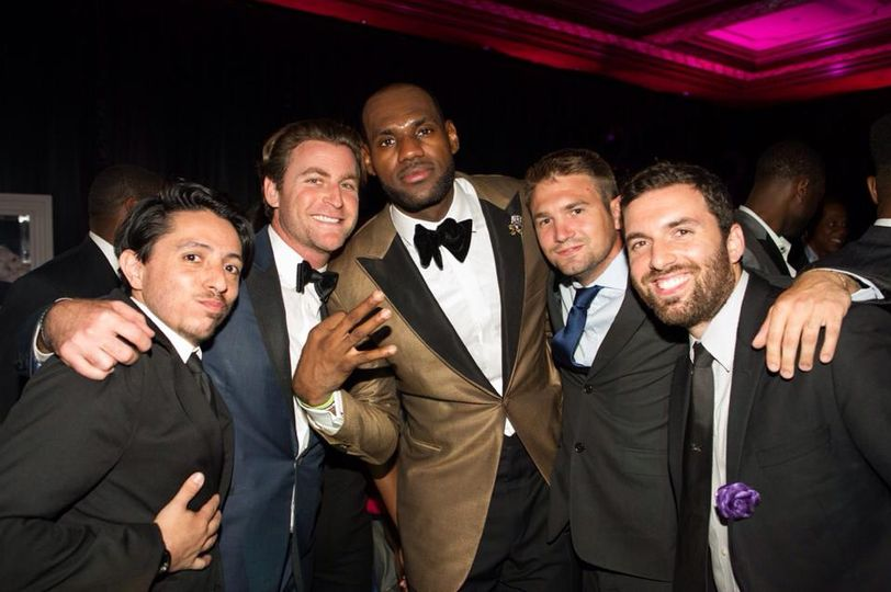 Photo of the team with lebron