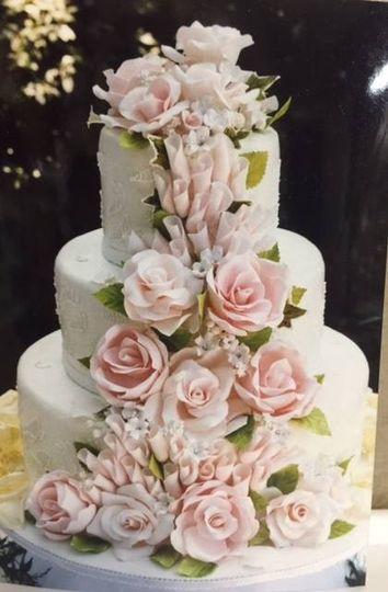 Pink white cake