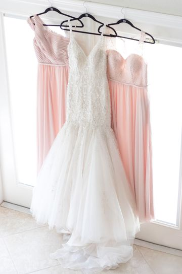 Wedding and bridesmaids gowns
